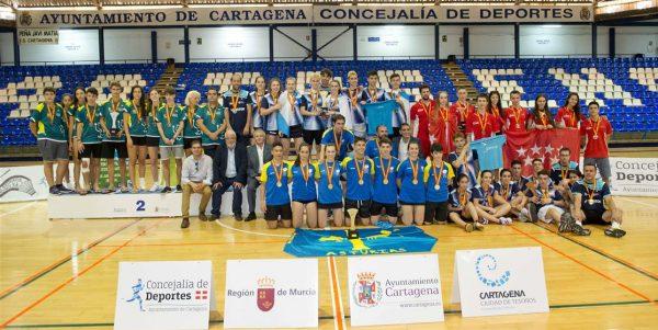 Cartagena pone el broche de oro a la temporada del bádminton Nacional