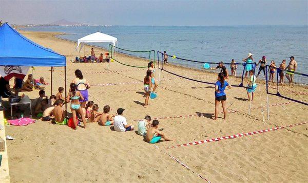 Bádminton Playa en Los Nietos, Mar Menor.